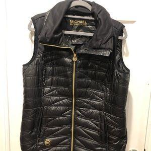Michael Kors Down Vest with Built in Hood